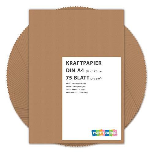 Hojas papel estraza cartón kraft 280 gr/m2 Natural