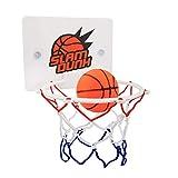 YIY Basketballkorb Spielzeug, Mini-Basketballkorb, Badezimmer-Toilette, mit Ball und Pumpe