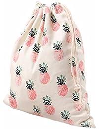 Sannysis bolsos de mujer con cordón mochila infantil Bolsa de hombro Impresión de piña