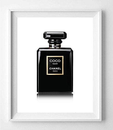 poster-plakat-flasche-schwarz-vogue-parfum-dekoration-fur-haus-verschiedene-grossen-erhaltlich-20-x-
