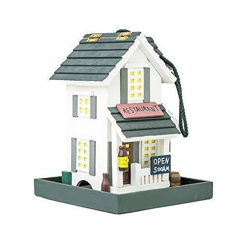 MEWANG Vogelhäuschen Vogel-Hause mit moderner Form ist aus Holz gemacht und hat eine Lange Gebrauchsdauer und ist insekt-Resistant