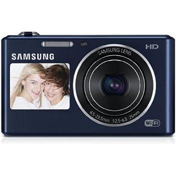 Samsung DV150F Smart-Digitalkamera (16,2 Megapixel, 5-fach opt. Zoom, 6,9 cm (2,7 Zoll) LCD-Display, bildstabilisiert, DualView, WiFi) kobalt schwarz