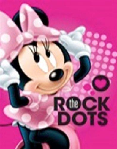 Disney Minnie Mouse Herzen pink Clubhouse Weich Plüsch Übergroße Twin Size Überwurf Cloud Decke rock the Dots (Mickey-mouse-twin Bettwäsche)