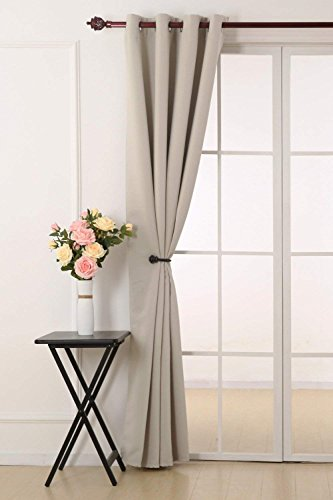 Deconovo tende oscuranti termiche isolanti tende da sole con occhielli per casa moderna 140x290 cm beige chiaro 1 pannello