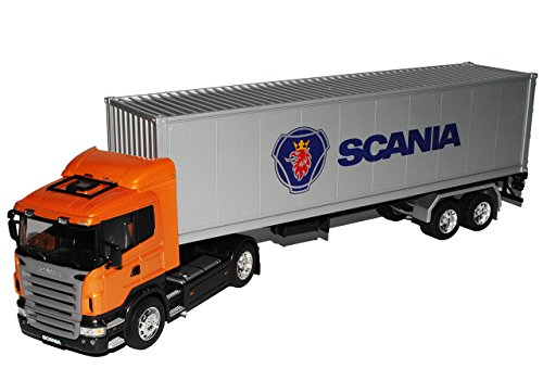 Welly Scania R470 40' Container LKW Truck Gold Gelb 1/32 Modell Auto