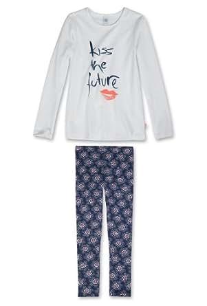 Sanetta Jungen Zweiteiliger Schlafanzug / Pyjama 242952 (Weiß (10)), Kleidergröße:128;Farbe:Weiß (10)