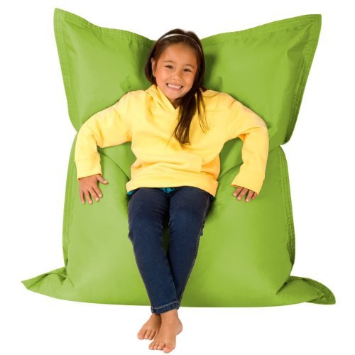 Hi Kids Bagz Sitzsack 4-Wege-– Liege, lime grün Sitzsäcke Outdoor Sitzkissen–100% Wasserabweisend Sitzsack für Kinder