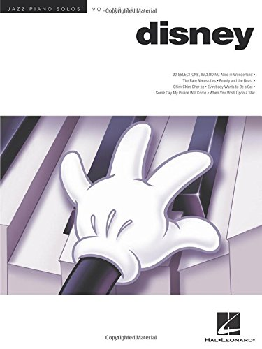 Disney Jazz Piano Solos Volume 16