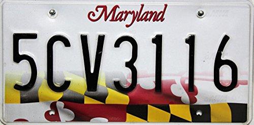 US Autokennzeichen Maryland Original USA License Plate, Nummernschild geprägt