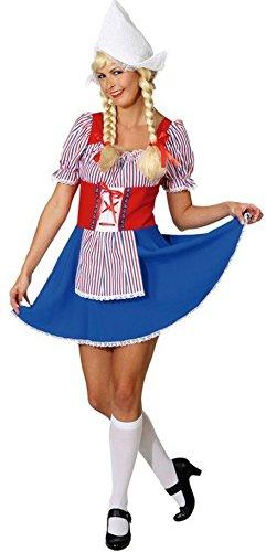 Sexy Damen Kostüm Holland Antje Holländerin Kleid Karneval Tracht Niederländerin Trachtenkostüm - Holland Kostüm