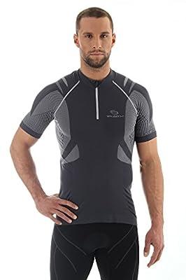 Brubeck Radtrikot Radshirt Trikot Bike Shirt(kurzarm, Taschen, Reflektoren)