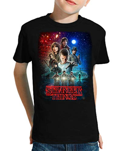 Camiseta de NIÑOS Stranger Things Serie Retro TV 80 11-12 Años