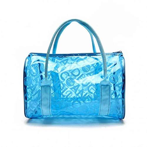 Yujum A Prova di umidit¨¤ Impermeabile delle Donne della Ragazza Spiaggia della Borsa del Tote Bags Portatili Trasparenti Chiusura a Cerniera in PVC di Nuoto Borse