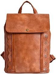 Lino Perros Tan Faux Leather Handbag