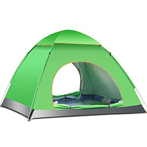 WANGWANG 3-4 Personen öffnen automatisch grüne Zelte, quadratische Camping-Markisen-Zelte, geeignet für Frühjahrsreisen, Übernachtungsmöglichkeiten im Freien, 78,7 * 78,7 * 47,2 Zoll