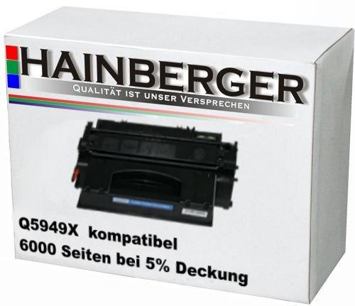 Hainberger Toner kompatibel zu HP 49X Q5949X schwarz 6000 Seiten (Toner 49x)