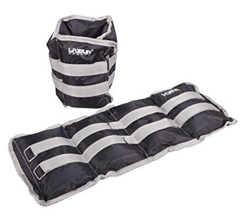 Set bestehend aus 2 Knöchel-, Handgelenk- und Gewichte Set - für Fitness, Aerobic - Verstellbare Hand Fußgewichte - 2 x 3kg (2 x 3kg)