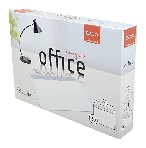 ELCO Office Versandtasche C4 120 g/m² FSC-zertifiziert mit Haftverschluss in Shop-Box 50 Stück weiß - C4 Box