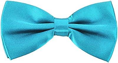PenSee–PRE-TIED Pajarita brillante ajustable Tuxedo sólido lazo ties-more 22colores