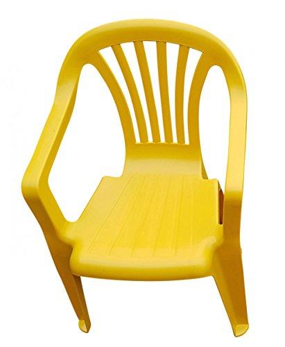 Kinder Gartenstuhl Stapelstuhl Kinderstühle Kindersessel Versch. Farben wählbar, Farbe:gelb