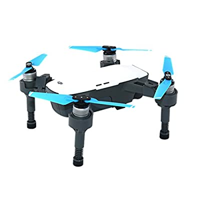 Kismaple Spark Landing Gear Leg Extensions, High Legs with Springs Upgraded Shockproof Anti-damping Leg Lengthen Extended for DJI Spark Drone