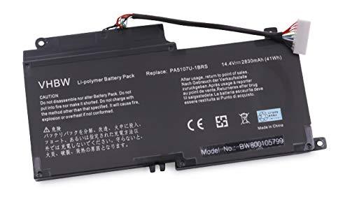 vhbw Akku 2500mAh (14.4V) für Notebook Laptop Toshiba Satellite L55t, Satellite P55, Satellite S55t wie P000573230, PA5107U-1BRS. (Satellite Laptop Toshiba S55t)