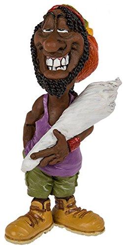 Bada Bing Figur bekiffter Rastafari Big Joint Reggae Funny Witzig Geschenk Deko Rastaman 26