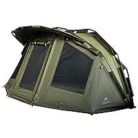 """CampFeuer Karpfenzelt """"Storm""""  Für jeden Angler gehört dieses Zelt zur Grundausrüstung, wetterdicht und unauffällig. Denn vor allem viel Geduld ist beim Angeln eines großen Karpfens nötig. Mit unserem komfortablen und funktionalen Karpfenzelt ist Ihn..."""