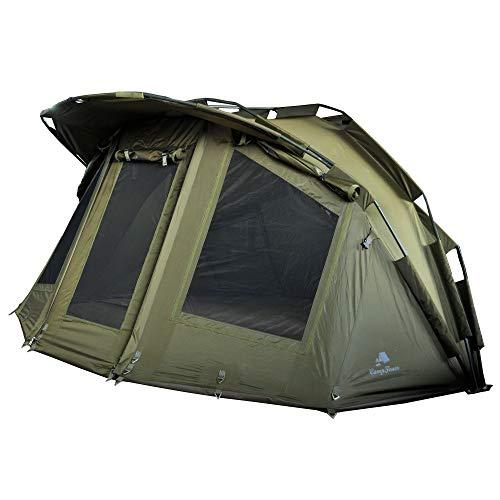 CampFeuer Angelzelt Storm I 2 Mann Karpfenzelt für Angler mit 3000 mm Wassersäule I wasserdicht I 2 Mann Bivvy Tent Anglerzelt I Fischerzelt mit Boden