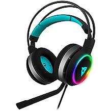 ThunderX3 AH7HEX - Auriculares gaming profesional (RGB, 6 efectos de luz, Led Halo