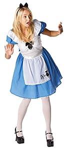 Rubies - Disfraz de Alicia en el país de Las Maravillas, diseño clásico de Alicia para Adultos, Talla pequeña.