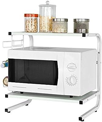 SoBuy® Soporte para microondas, estante, estantería de cocina, miniestante, FRG092-W