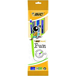 BIC Matic Fun 0,7 HB Portaminas Automático - Diseño en colores Surtidos, Blíster de 3 unidades