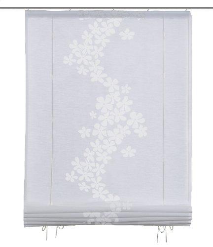 Home fashion 54614-810 persiana avvolgibile con nastrini, con decorazioni, 140x80 cm