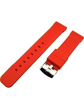ZeitPunkt-Silikonband sportlich ralley-rot 22 mm