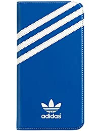 Adidas Booklet Wallet Cell Phone Case for iPhone 6 Plus & 6S Plus (Blue/White)
