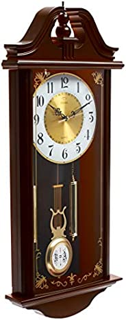 DOJANA WALL CLOCK DWG032-LIGHT BROWN GOLD-WHITE