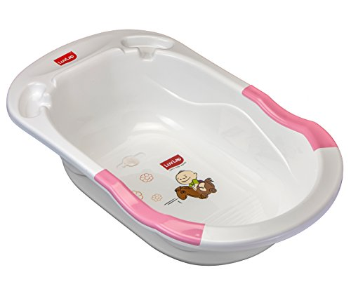 Luvlap Baby Bubble Bathtub with Anti Slip (Pink)
