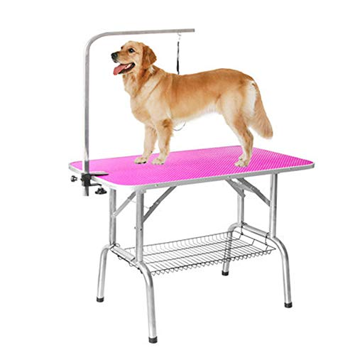 GYJ 10 STÜCKE Klapp Haustiere Pflegetisch Tragbaren Tisch Hund betriebsbad Einstellbare Haushalt Rutschfeste Oberfläche/Katze Pet mit Edelstahl (Sitze Für Klapp-tisch 10)
