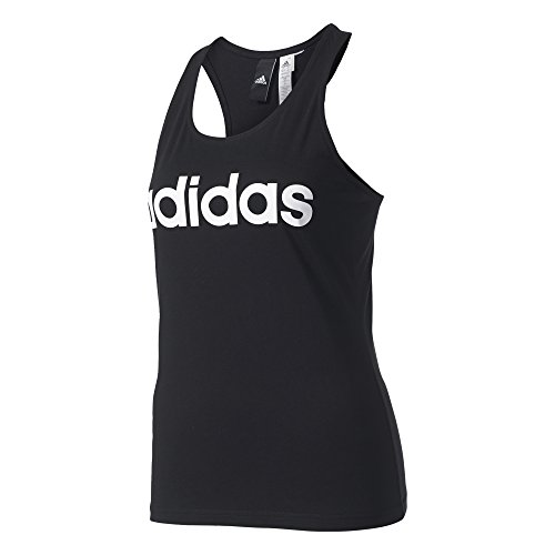 adidas Damen Essentials Linear Slim Tanktop, Black, M