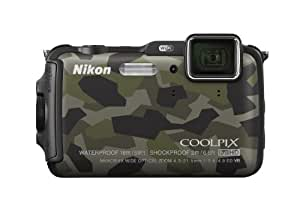Nikon Coolpix AW120 16MP Point and Shoot Camera (Camouflage) with 5x Optical Zoom, 8 GB Card and Camera Case