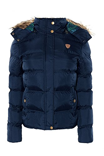 Womens Brave Soul Hopp Faux Fur Hooded Quilted Jacket