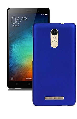 Chevron Rubberised Matte Hard Case Back Cover For Xiaomi RedMi Note 3 (Deep Blue)  available at amazon for Rs.109