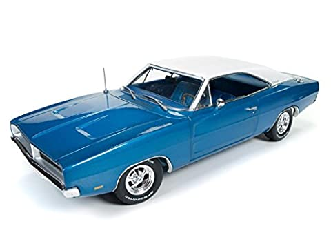 AUTO WORLD 1:18 AMERICAN MUSCLE - 1969 DODGE CHARGER WHITE