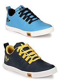 Lavista Men's Blue And Sky-Blue Sneaker Casual Shoe