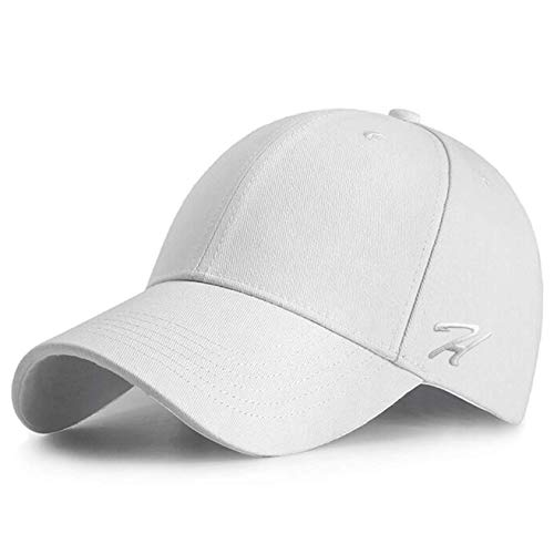 HASAGEI Baseball Cap Herren Damen Basecap Baseball Kappe Reine Farbe Baseboard Baseballkappe Mütze Cotton Hut für Tennis Golf Reisen Weiße Tennis Caps