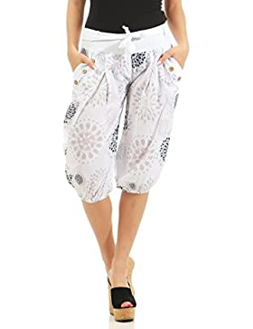 malito Mujer cortos Pantalones con Estampado Pantalones Short 3482