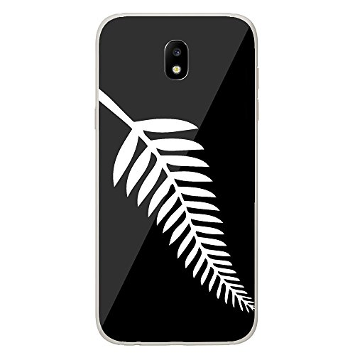 Housse Coque Etui Samsung Galaxy J5 2017 silicone gel Protection arrière - Drapeau All-black