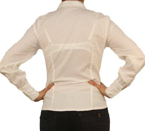 9632 PERANO Damen Blusen Hemden Weiß