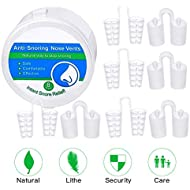 Shnvir Anti Snoring Devices-Stop Snoring Nose Vents and Nasal Congestion Aids-Sleep Relief and Snore Stoppers-Comfortable Snore Stop Solution(8packs)